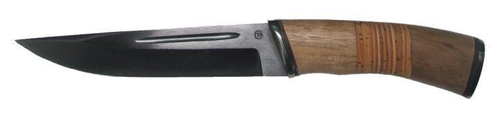 Нож из стали 65Г Гарпун, рукоять орех, береста