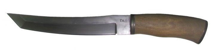 Нож из стали 65Г Кабан, рукоять орех